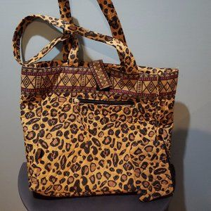 Maggi B Carol Baskin Tiger King Leopard Tote Bag